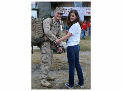 John & future wife, Raliegh, before his first deployment in 2006.